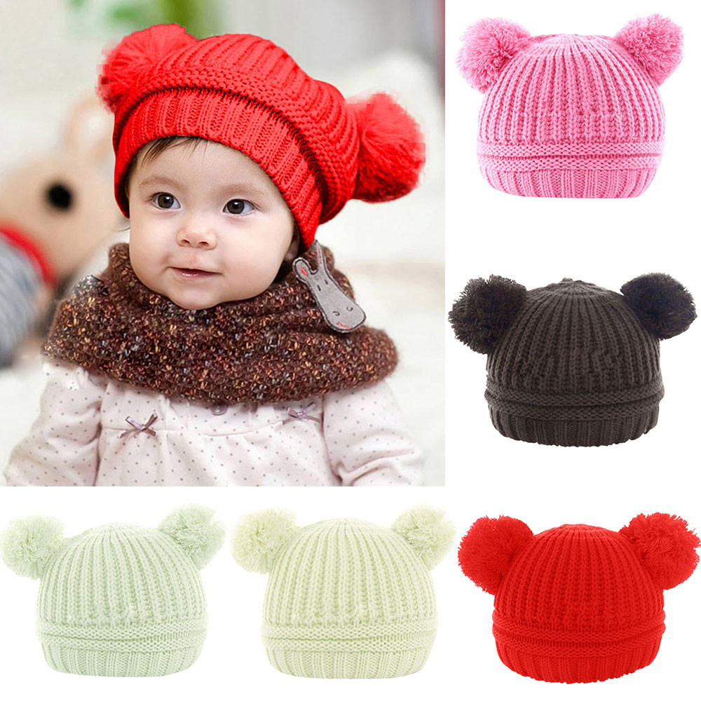 Newborn Baby Boys Girls Toddler Warm Crochet Knitted Hat Beanie Cap Prop Photo
