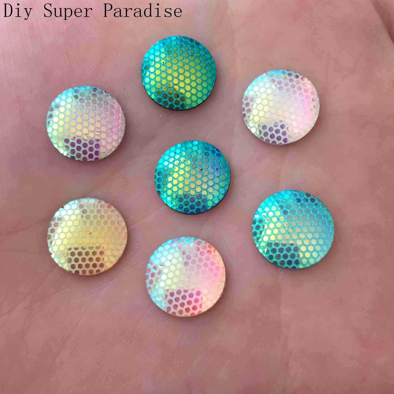New 120PCS 12mm  AB Resin round Flatback 3D rhinestone Embellishment buttons DIY