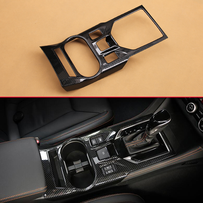 Carbon Fiber Look Interior Trims For 2018 Subaru XV Crosstrek W EPB Gear Shift Box Panel
