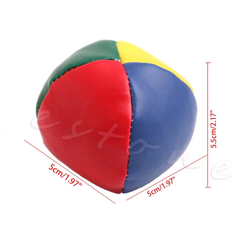 Free Shipping Juggling Balls Set Classic Bean Bag Juggle Magic Circus Kids Toy Gift Outdoor Fun Sports Toy Balls Xmas