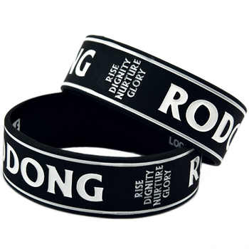 OneBandaHouse Customized Design Logo Silicone Rubber Bracelet One Inch Wide Wristband - DISCOUNT ITEM  6% OFF All Category