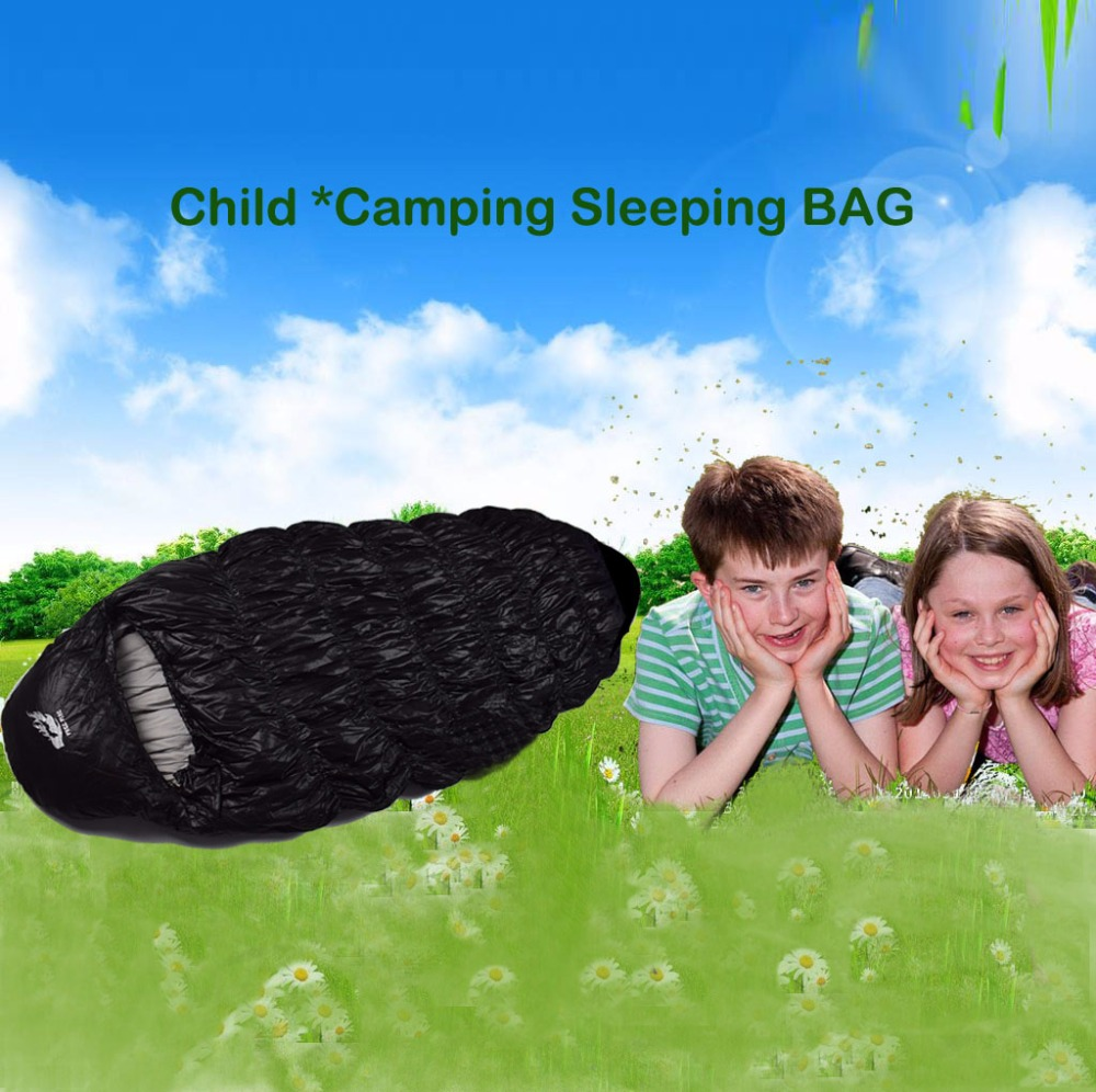 Kinderschlafsack, Camping Schlafsack Winter Entendaunen - Camping und Wandern