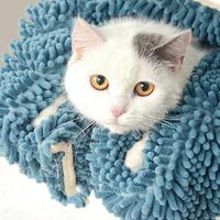 Asypets secado rápido PET Bañeras toalla perro gato Toalla de microfibra con una fuerte absorción de agua (lago Azul)-40