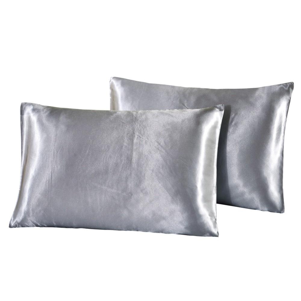 Aliexpress Com Buy Luxury Satin Silk Pillowcase Pillow