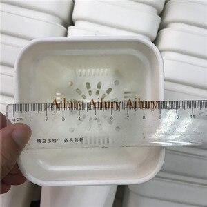 Image 3 - 20 قطعة/الوحدة ، Dimater هو 9.3 سنتيمتر ، الأبيض اضافية سميكة البلاستيك إناء زهور مربع الشكل ، المنزل البستنة البلاستيك زهرة وعاء ، سمين وعاء