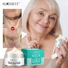 AuQuest укрепляющий крем для шеи и груди, против морщин, гладкая горизонтальная линия, коллаген, подтягивающий шею, плотный, восстанавливающий кожу, уход за кожей TSLM1