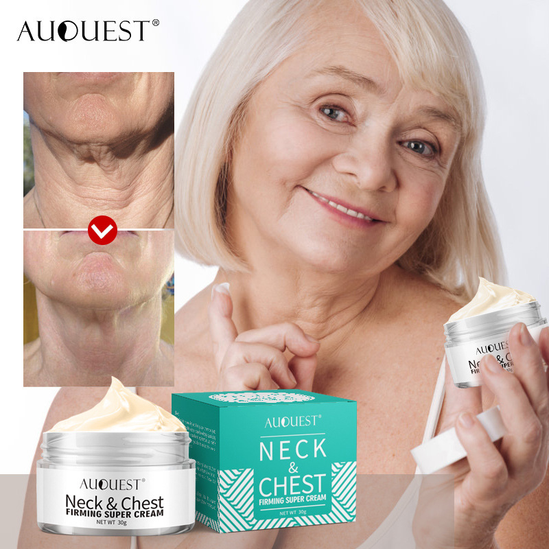 AuQuest Neck & Chest Firming Cream Anti Wrinkle Smooth Horizontal Line Collagen Lifting Neck Tight Skin Repair Skin Care TSLM1