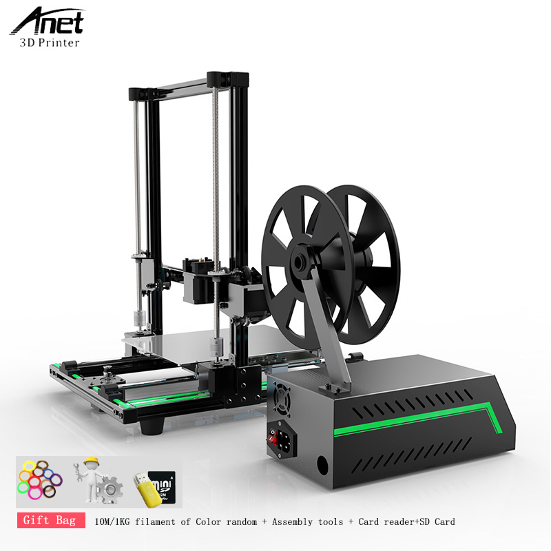 Anet E10 3D Printer DIY 3D Printer Kits English language Software Aluminum Alloy Frame Super Building Volume with 8GB TF Card image