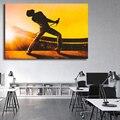 Königin Freddie Mercury Bohemian Rhapsody Kunst Leinwand Poster Malerei Wand Bild Drucken Moderne Hause Schlafzimmer Dekoration Zubehör-in Malerei und Kalligraphie aus Heim und Garten bei