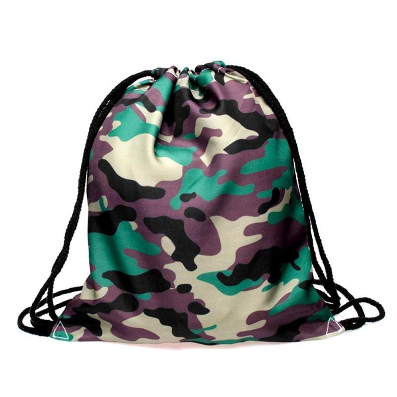 Водонепроницаемый drawstring сумка для хранения камуфляж рюкзак Обувь сумка дорожная сумка Организатор Прачечная белье Макияж косметичка