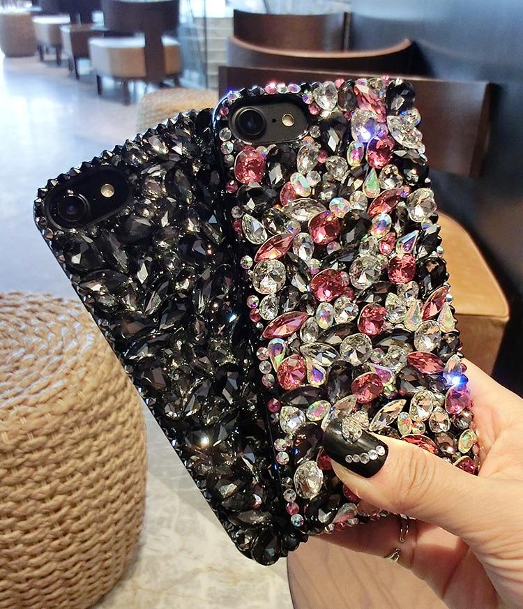 imágenes para Dote Me Bling de Lujo Cristal de Diamante Cubierta Del Caso Para El Iphone 7 6 6 S Plus 5S 4S Samsung Galaxy Note 5 4 3 2 Borde Más S5 S6 S7/4/3