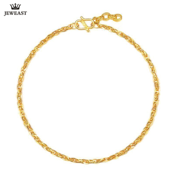JLZB 24K Pure Gold Bracelet Real 999 Solid Gold Bangle Adjustable Simple Fashion Trendy Classic  Fine Jewelry Hot Sell New 2020 1