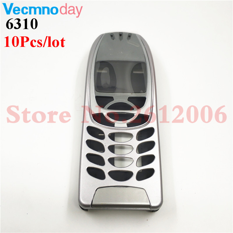 10Pcs/lot High Quality Battery Door Middle Frame Front Bezel For <font><b>Nokia</b></font> <font><b>6310</b></font> 6310i Mobile Phone Housing Cover Case ( No Keypad ) image