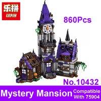 2017 New LEPIN Blocks BELA 10432 Scooby Doo Mystery Mansion Model Figures Building Bricks Set Toys