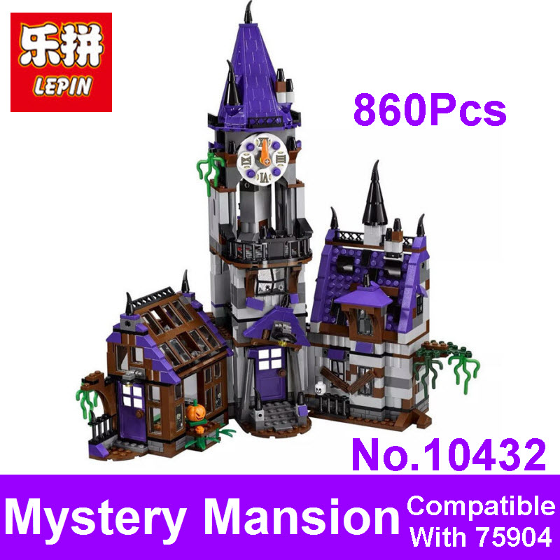 2017 New LEPIN Blocks BELA 10432 Scooby Doo Mystery Mansion Model Figures Building Bricks Set Toys Compatible 75904 For Children bela 10432 scooby doo mystery mansion shaggy velma daphne building blocks bricks toy compatible with lepin scooby doo 75904