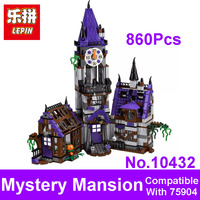 2017 New LEPIN Blocks BELA 10432 Scooby Doo Mystery Mansion Model Figures Building Bricks Set Toys
