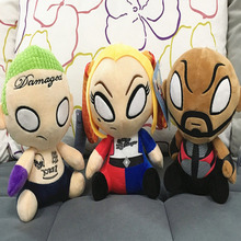1pcs Movie Suicide Squad Action Figure Harley Quinn Deadshot Joker Plush Toy Doll For Kids Christmas gift