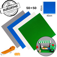 MARUMINE Baseplate 50 X 50 Toys For Boys And Girls DIY Pixel Painting Classic Block Base