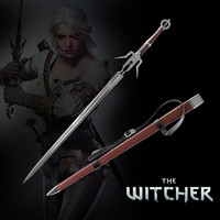 Medieval Sword Stainless Steel Ciri's Blade Replica The witcher3:Wild Hunt Wooden Sheath Brown Leather Decorative Supply