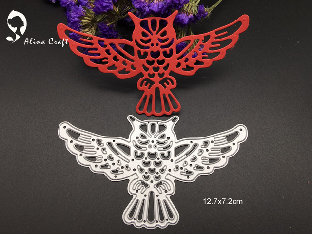 Alinacraft Metal Cutting S Fly Eagle Animal Sbook Al Embossing Stencils Paper Craft Template Cutter
