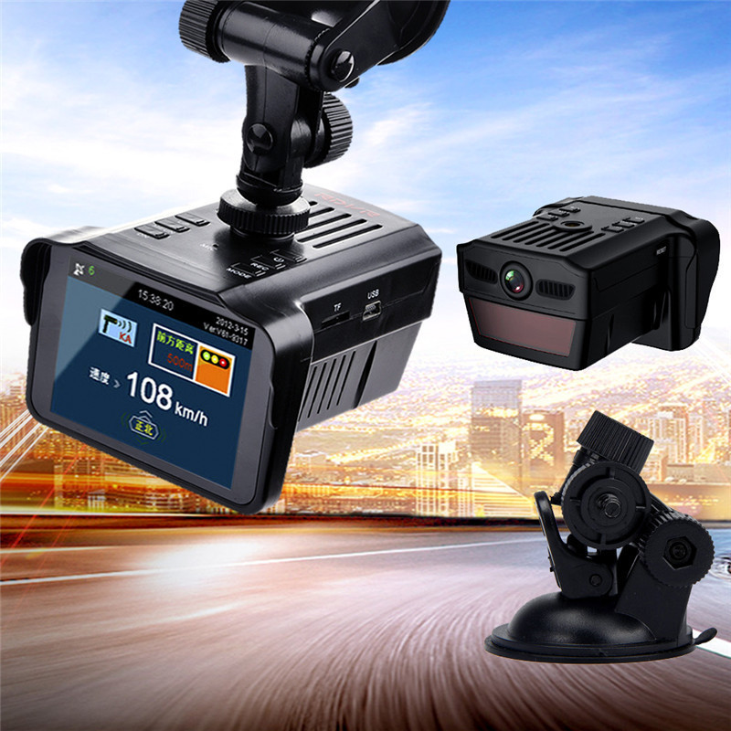 2.7 ''globalement universel 2 en 1 1080 P enregistreur de trafic HD Radar de vitesse Mobile 3 Mode ville 1 détecteurs de Radar de voiture Mode autoroute