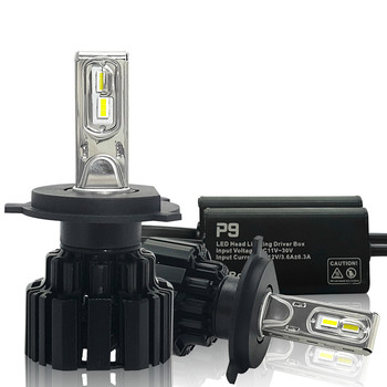 Super Bright LED Car Headlight H7 H11/H8 9005/HB3 9006/HB4 9012 D1/D2/D3/D4 H4 H13 45W 6800Lm/Bulb 6000K Pure White