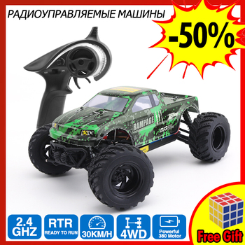 rc car 4wd racing  RC 2.4G four-wheel drive high-speed buggy crawler drive mountaineering toy waterproof children's toys drift
