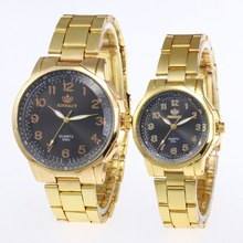 Fashion Couple Watches Quartz Clock Stainless Steel Men's Women's Watch