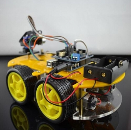 цена на DIY Robot Car Kit 4WD Smart Car Learning Starter Set Multi-function Bluetooth Car for Arduino