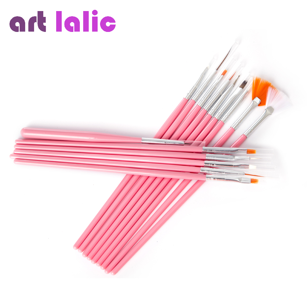 15 pcs/set Nail Art Decorations Brush Tools Professional Nail Art Brushes Painting Pen for False Nail Tips UV Nail Gel Polish stylish 24 pcs smile expression pattern nail art false nails page 7