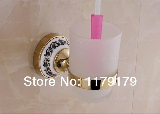 Brass antique  bathroom cup & tumbler holder, single  toothbrush holder  bathroom accessories 16884 G 2017 latest model rubber spray technology black single tumbler cup holder toothbrush holder bathroom accessory