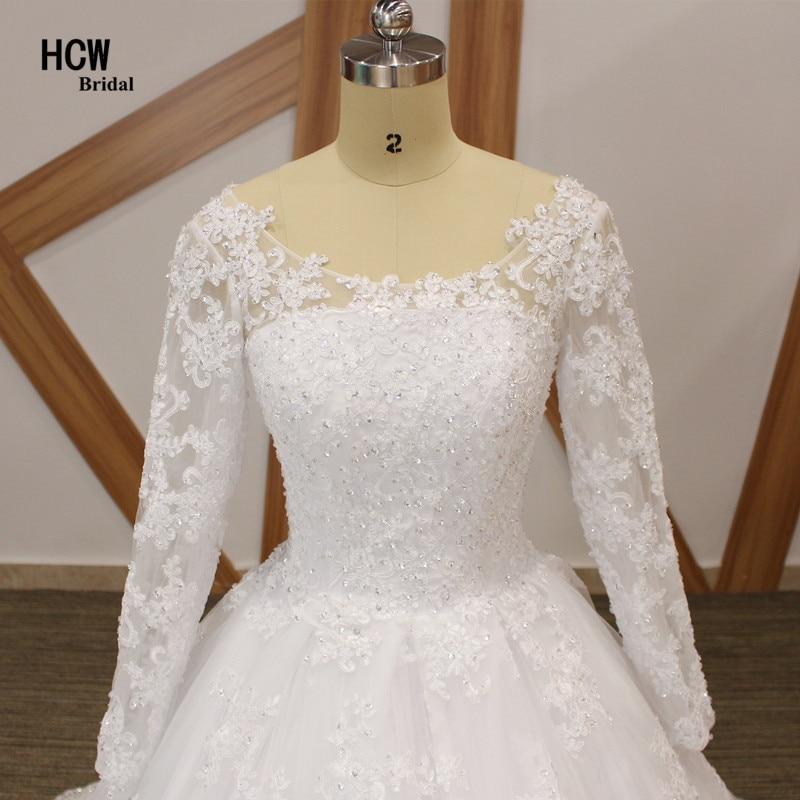 Brīnišķīgas kāzu kleitu ar garām piedurknēm mežģīnes - Kāzu kleitas - Foto 4