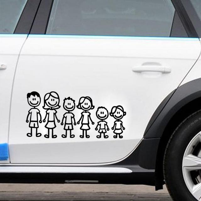 Car styling custom family member viny decal car stick figure diy adhesive window car stickers waterproof