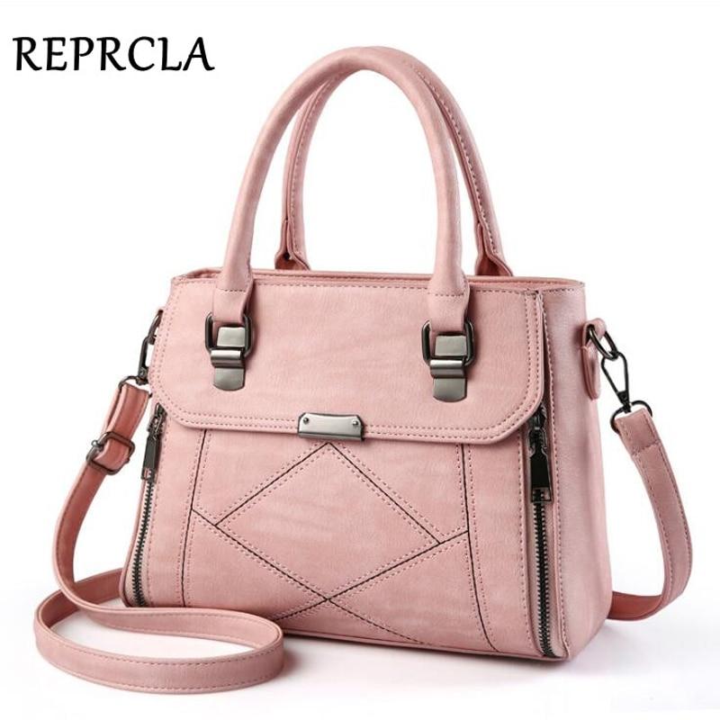 REPRCLA New European Fashion Women Bag Designer PU Leather Handbags Ladies Shoulder Bag Crossbody Female Top-handle Bags reprcla brand designer handbags women