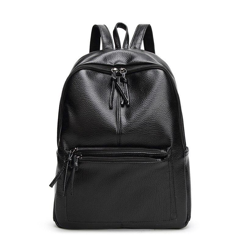 Black/Leather/Travel Backpack Women Casual Waterproof Mochila Feminina Bagpack Sac A Dos Large Rucksack Ladies Girl School Bags