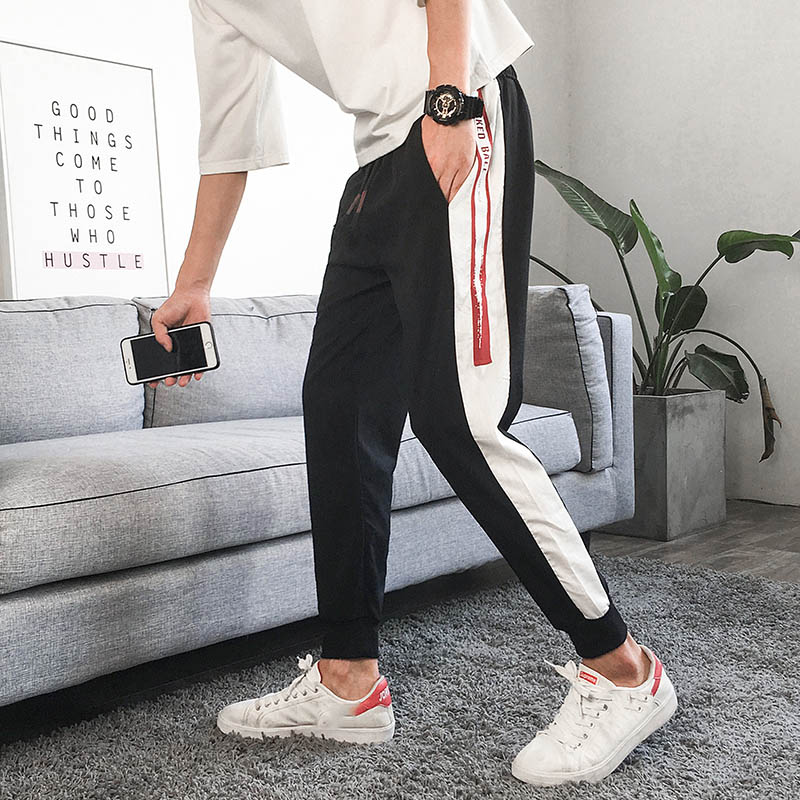 Wholesale 2019 autumn winter Japanese men 39 s loose feet casual pants Korean sweatpants beam feet joggers sport harem pants male in Trainning amp Exercise Pants from Sports amp Entertainment