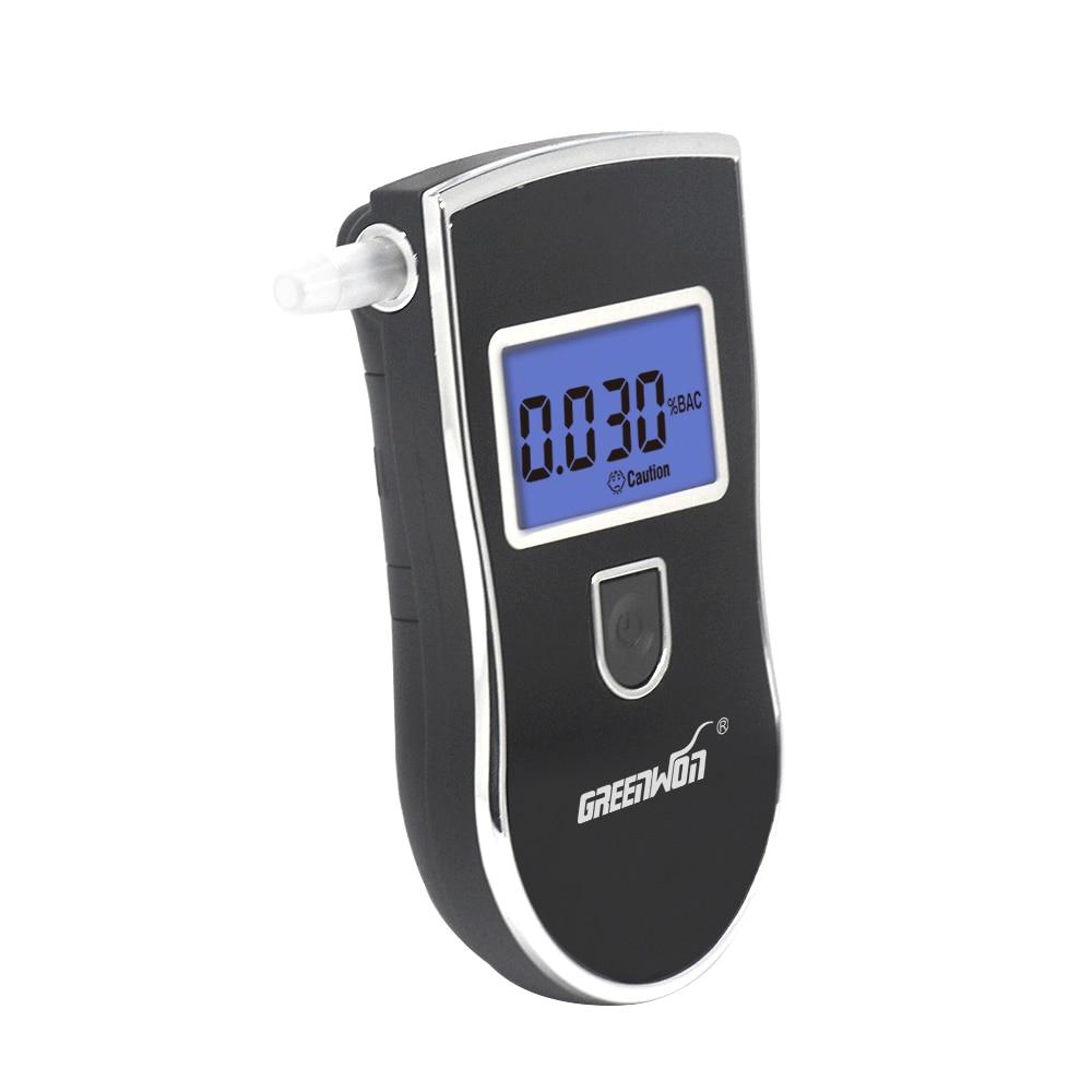 Prefessional цифровой тестер алкоголя в дыхании, Алкотестер с 5 мундштуками,, дропшиппинг