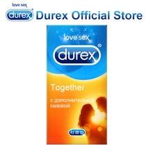 DUREX Вместе Презервативы интимные Товары Секс-игрушки с гелем и масло для Секс Смазка насадка на пенис рукав для Для мужчин