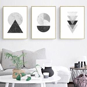 Minimalist Style Marble Geomet