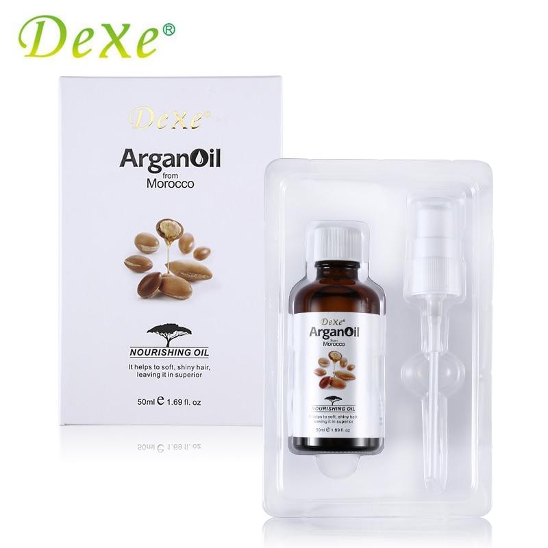 Cura dei capelli Dexe 50 ml Marocco Olio di Argan Naturale Puro per la pelle Secca e Manutenzione Dei Capelli Nutrizione Olio Essenziale per i Capelli aromaterapia