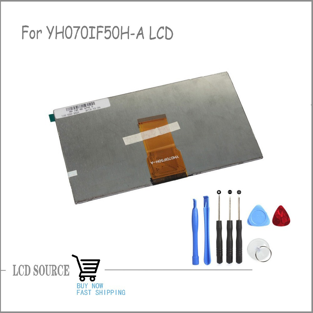 Original TFT 7 Inch YH070IF50H-A LCD Display Matrix Tablet YH070IF50H-A 163*97mm LCD Display Panel Glass Replacement