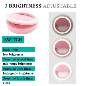 Image 3 - Litwod Mobile Phone Portable Clip Led Selfie Lamp Ring Beauty Fill Flash Lens Light Emergency Dry AAA Battery for Celebrities