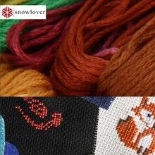 Снеговик, рукоделие вышивка 1,2 м разноцветная опция DMC524-621 10 шт./партия вышивка крестиком хлопковое шитье, моток пряжи вышивка нить