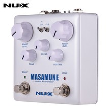 NUX Masamune Guitar Multi Effects Pedal Analog Compressor and Booster 2 In 1 Dual Footswitch Effect Pedal Guitar Accessories цена