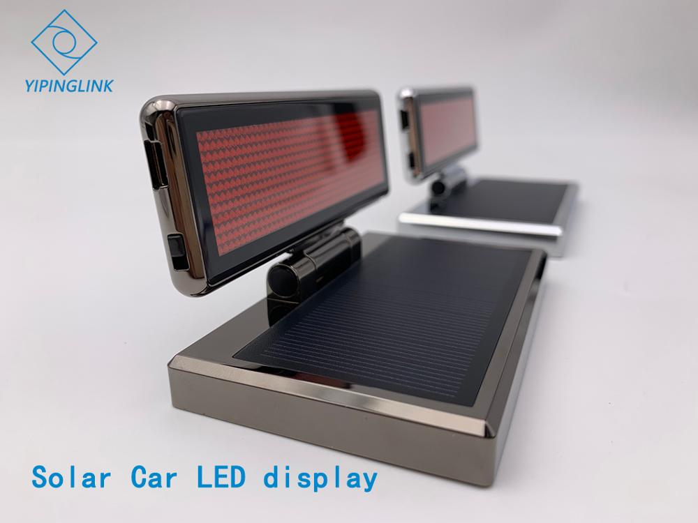 Solar Mini  Scrolling Red Color LED Display Temporary Parking Card Smart License Plate Number Plate Solar LED Screen