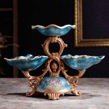 Европейские сухие фруктовые закуски предметы интерьера Свадебные украшения новоселье подарок Высокая фруктовая тарелка