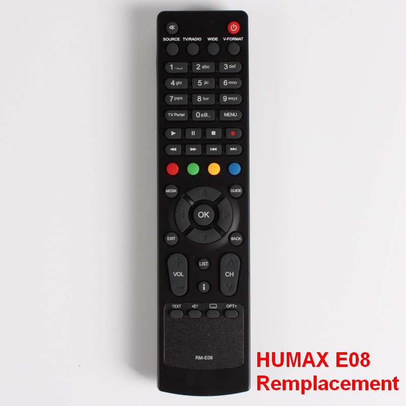 Remote Control For HUMAX RM-E08, VAHD-3100S, Commander controller, Model RM E08, Directly Use