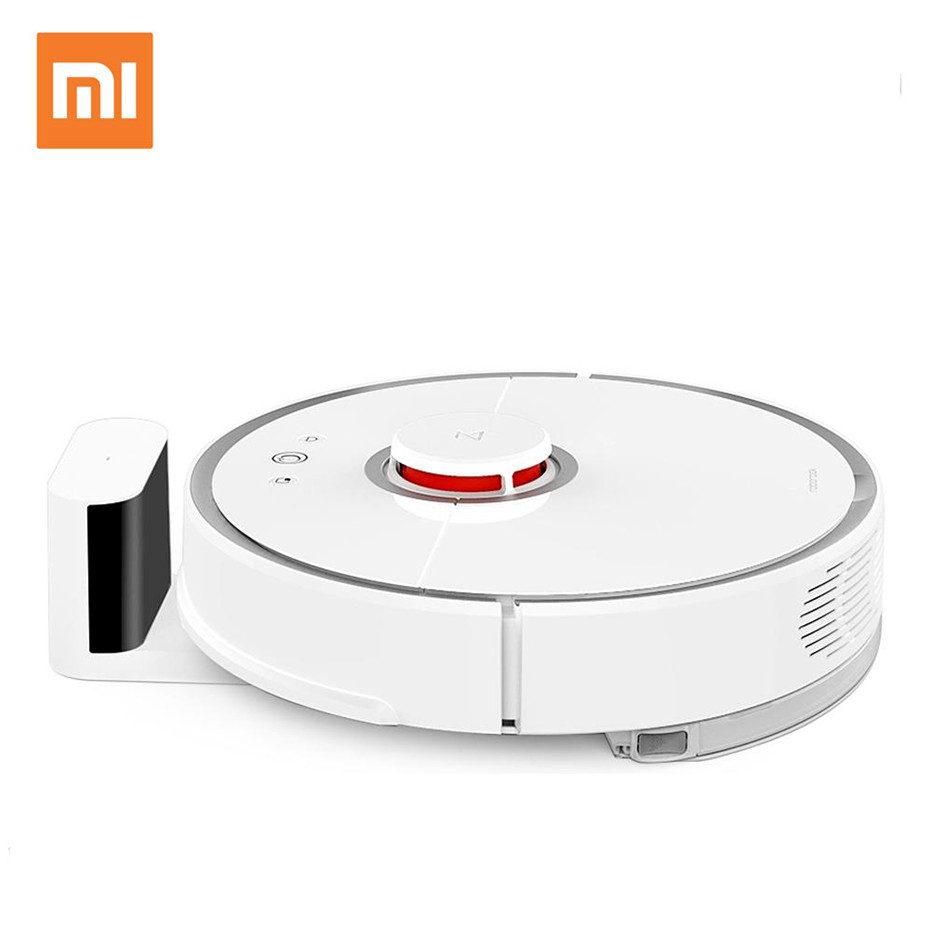 Xiaomi Mi Mijia Roborock Smart Vacuum Cleaner 2nd Robot Mop Sweep Laser Path Planning Home APP Control Cleaning Sweeping Robot xiaomi mijia yeelight ceiling light led bluetooth wifi remote control fast installation for xiaom mi home app smart home kit