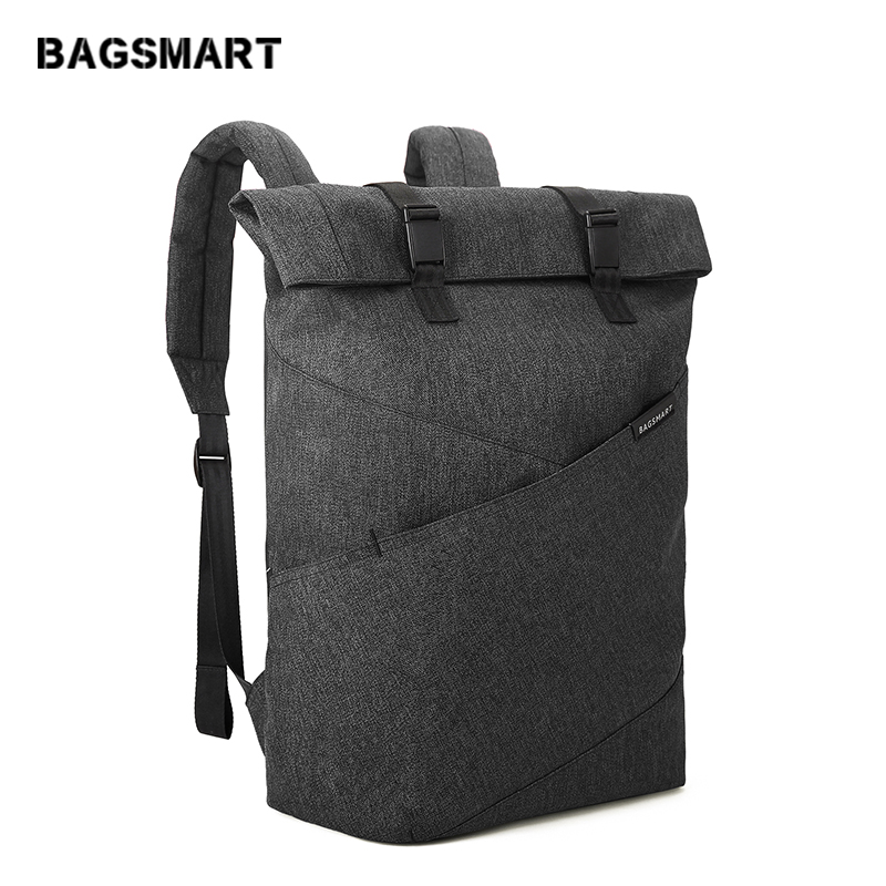 BAGSMART New Men Laptop Backpack 15.6Inch Rucksack School Bag Travel Waterproof Backpack Women Notebook Computer Bag