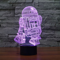 3D R2D2 Novelty Lighting Great Nightlight with Soft Glow for Kids Beautiful Gifts for Mom and Amazing Desk Table Lamps for Dad